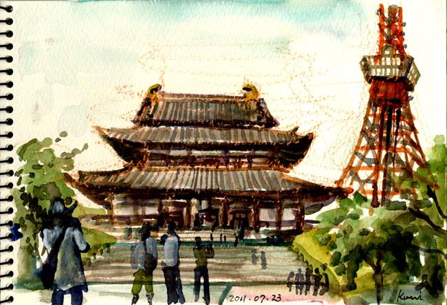 Zojoji_and_tokyo_tower