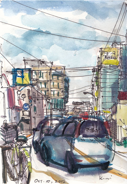 A_street_view_near_tsuruma_station
