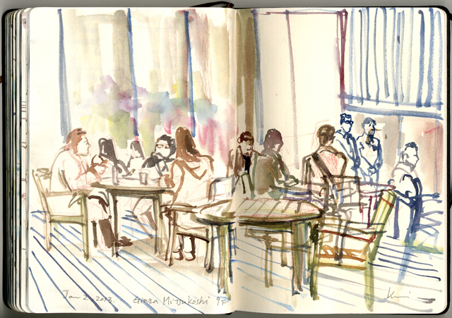 On_the_terrace_of_ginza_mitsukosi