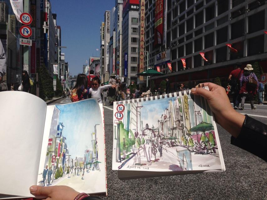Ginza_street_sketches