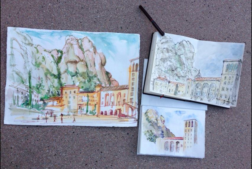 Montserrat_sketch_session